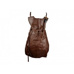 Leather apron genuine leather brown