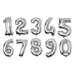 Ballong Siffror 75cm silver