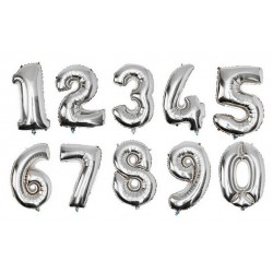Balloon Figures 75cm silver