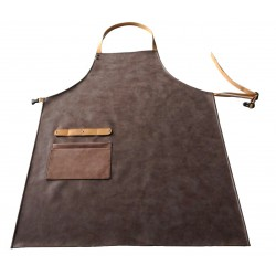 Apron leather imitation Brown artificial leather