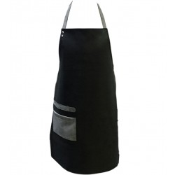 Leather apron imitation Black artificial leather