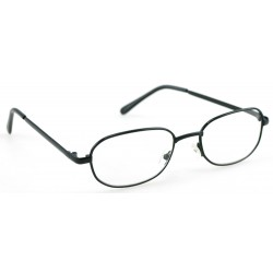 Reading glasses + 3.0 Black metal Spectacle frame