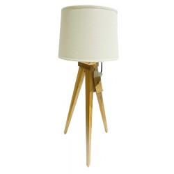 Lampebord metal / træ Grå 73 cm